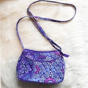 "Vera Bradley ""lilac tapestry"" crossbody bag"